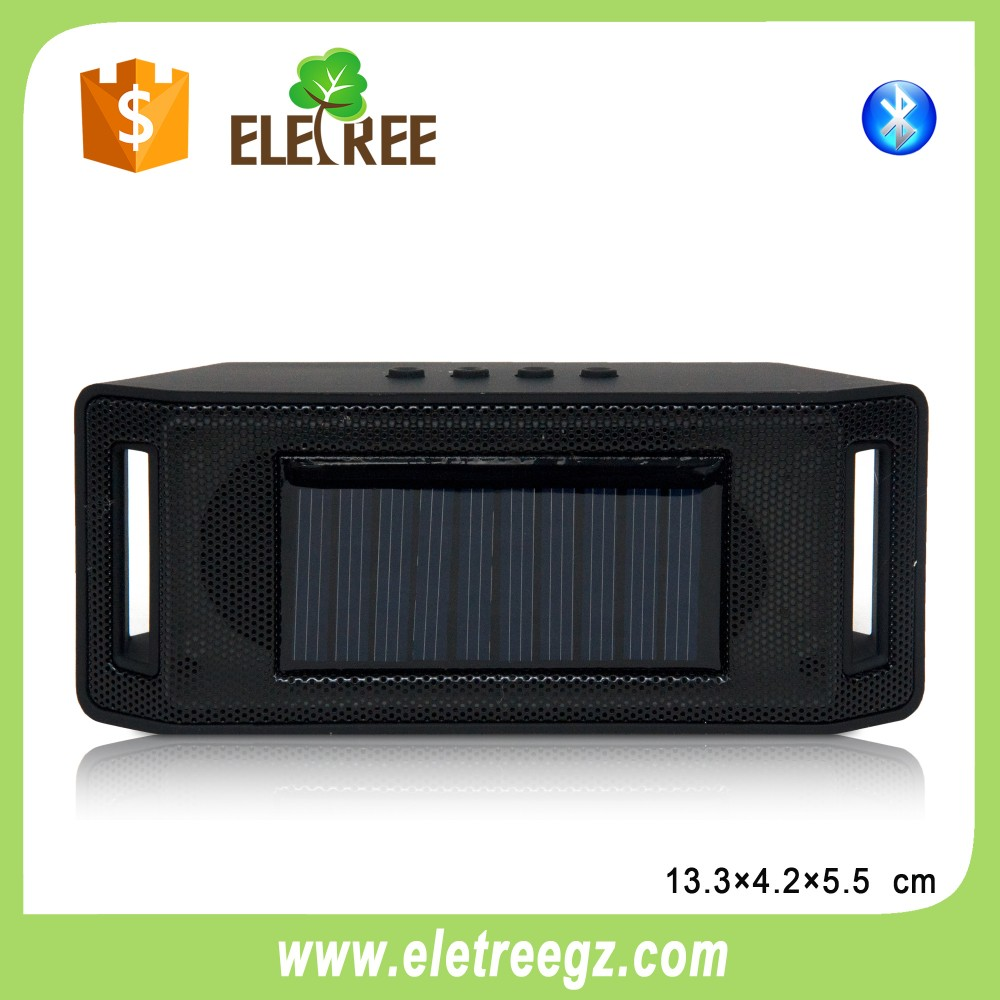 2016 New electronic gadgets Portable Solar Power Speaker Wireless Bluetooth TF card Music player for Outdoor Sport Camping