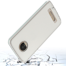 Candy Color TPU Bumper Crystal Transparent Acrylic Hard Case For moto z play Cover Case