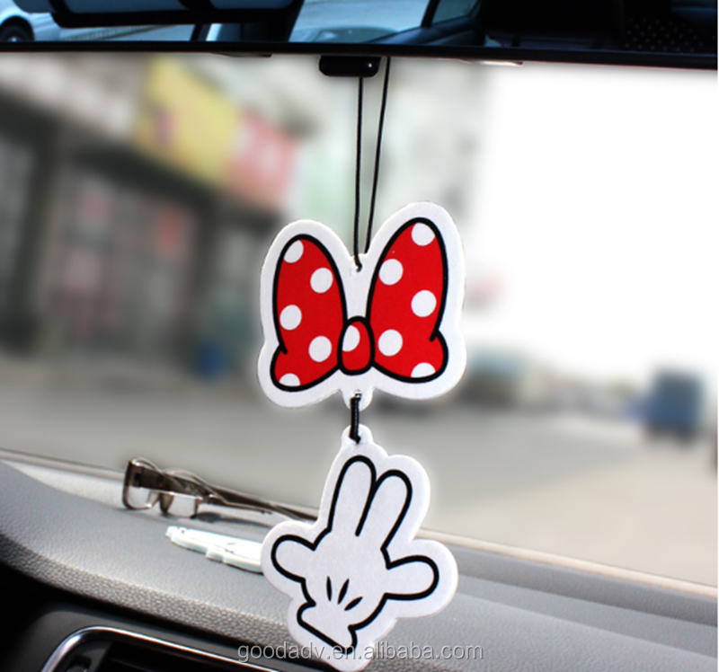 New design customized fragrance make hanging paper air car freshener