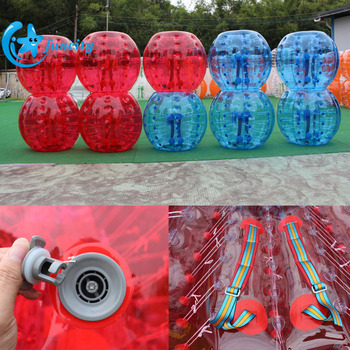 Special Straps, Handles Transparent TPU Inflatable Bubble Football For Sale