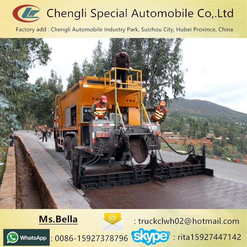 Slurry Seal Truck Manufacturer,8 tons Emulsified Asphalt Slurry Sealer