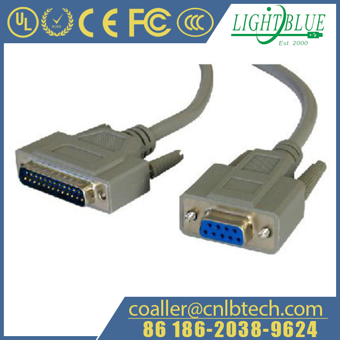 RS232 DB9 Female to DB25 PIN Male Cable