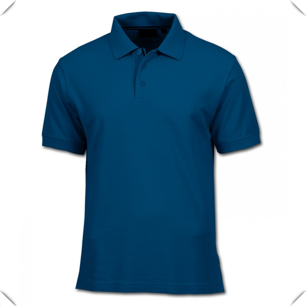 Custom Made Blank Design High Quality Blue Polo Shirt With