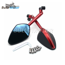 BULLS CNC Machined motor bike side mirror motorcycle rearview back side mirror CNC Rizomas