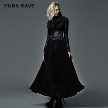 Q-262 Wholesale Gothic Pleuche Latest Fashion Designer Ladies Skirts
