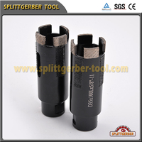 Line-up dry hollow core diamond drill bits for hand drill