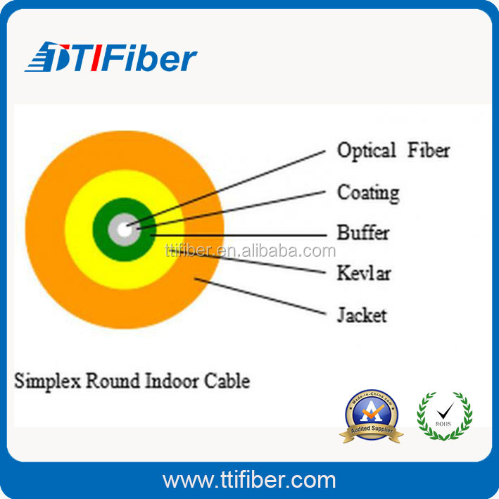 simplex singlemode corning 9/125 indoor g.652d optical fiber cable