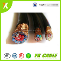 3 6 core flexible shielded control cable copper winding wire and price