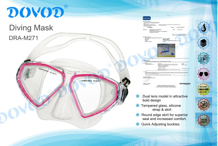 adult silicone scuba diving mask