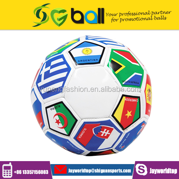 Manufacturer provides straightly size 5 machine stitched flag football soccer ball