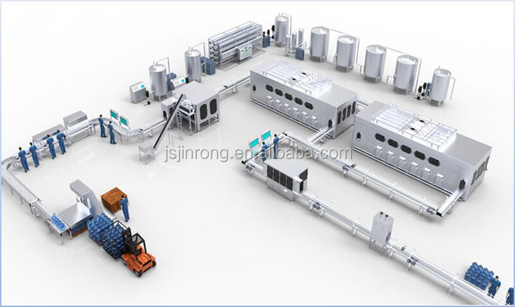 High capacity 5 gallon 18.9L water barrel filling line