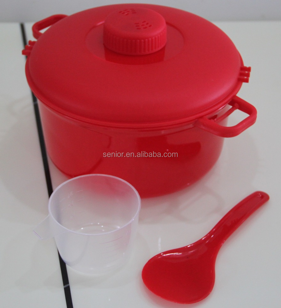 2.8L Plastic Microwave Cooker Food Steamer Rice Cooker