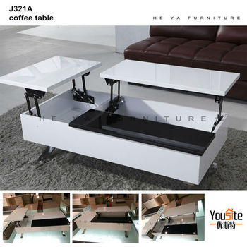 Adjustable height coffee table furniture lift top coffee for Wohnzimmertisch lift