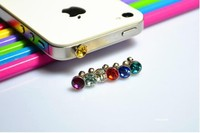 Mobile phone accessories diamond for iphone moblie dust plug