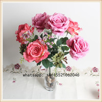 SJSAS80004 Cheap hot sale artificial rose bulk silk flowers