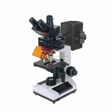 High quality labroratory trinocular fluorescent microscope with CCD and digital camera