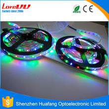 Waterproof IP68 outdoor led strip light 5050 60d rgb 12v color changing led light swimming pool rope light