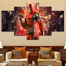 High-quality Modern Printed On Canvas Superman painting living room decoration 5pcs/set wall decor landscaping canvas prints