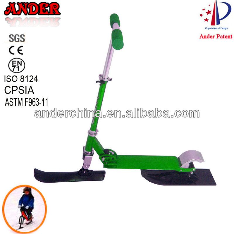Aluminum snow scooter skis Child snow scooter Kids snow sled Winter Sports