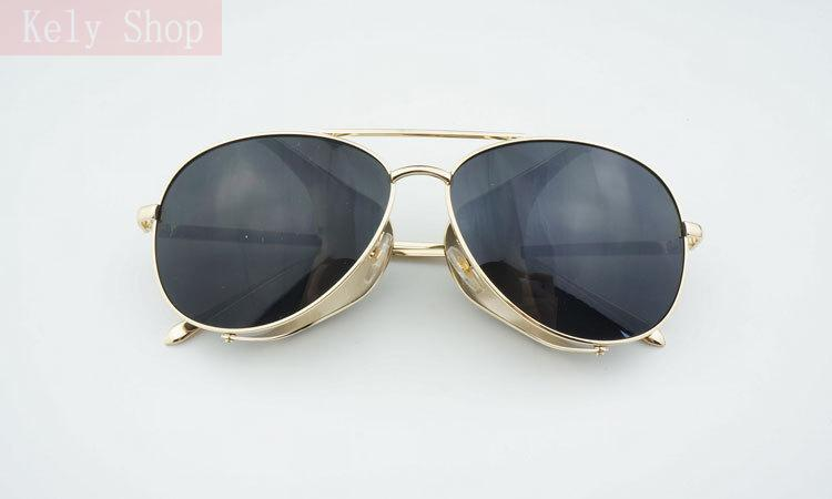Metal Frames Frog Mirror Fashion Double Bridge Of The Nose New Sunglasses Glasses Eyewear Retro Brand Designer For Women S976