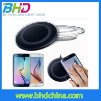 Hot Sale universal Qi S6 Wireless Charger Charging Pad Wireless charger coil for blackberry for sony xperia z c6603