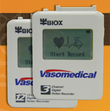 3 Channel or 12 Channel Ultra Compact ECG Holter Recorders