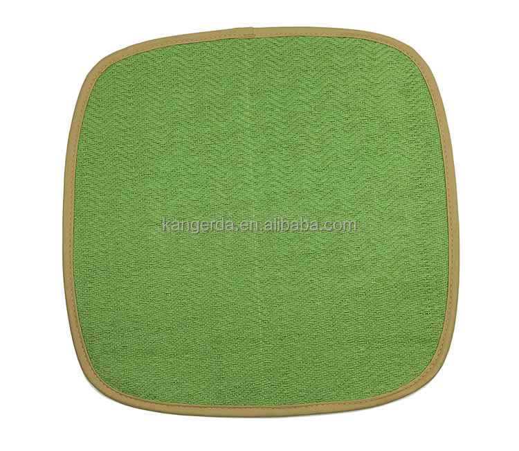 Children Square Green Plastic Chair or Ground Sitting Cushion Mats