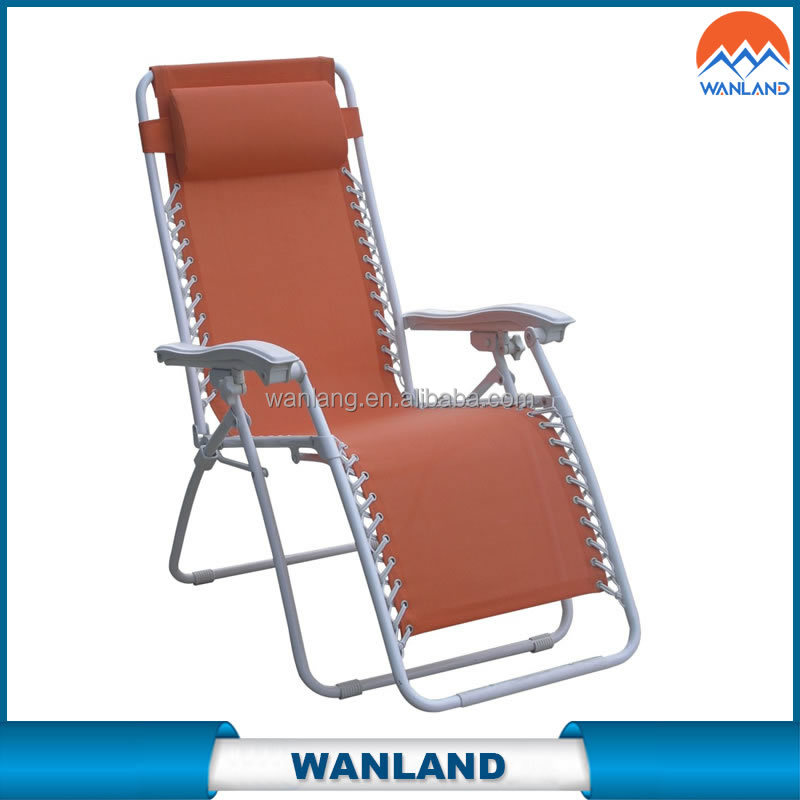 Modern folding sling lounge relaxing leisure chair with reclining function for otudoor and indoor use