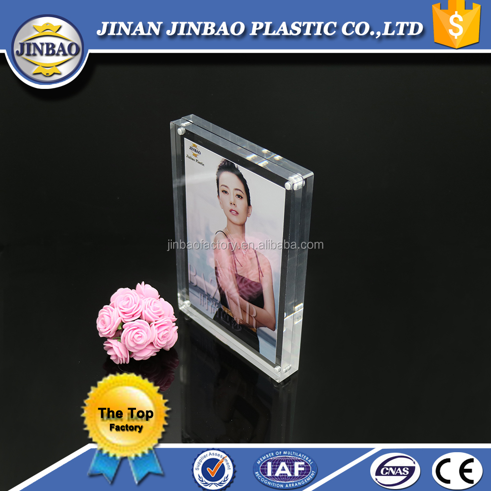 JINBAO Acrylic block sexy photo picture frames for photos