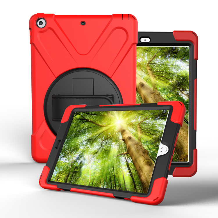 Free Samples Hand Grip kid proof 360 Rotation Kickstand Leather 11.5 Shockproof Rugged Tablet Case For New iPad 2017 10.1 Inch
