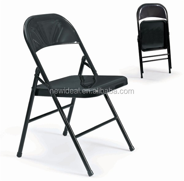 0.8mm painted steel tube upholstery folding chair without arm (NB3009)