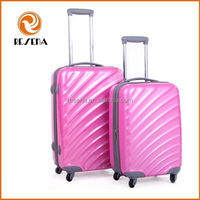 ABS+PC hard shell Funky steamline luggage, light suitcase