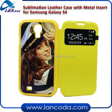 sublimation leather phone case for Samsung S4 I9500,with pu flip window
