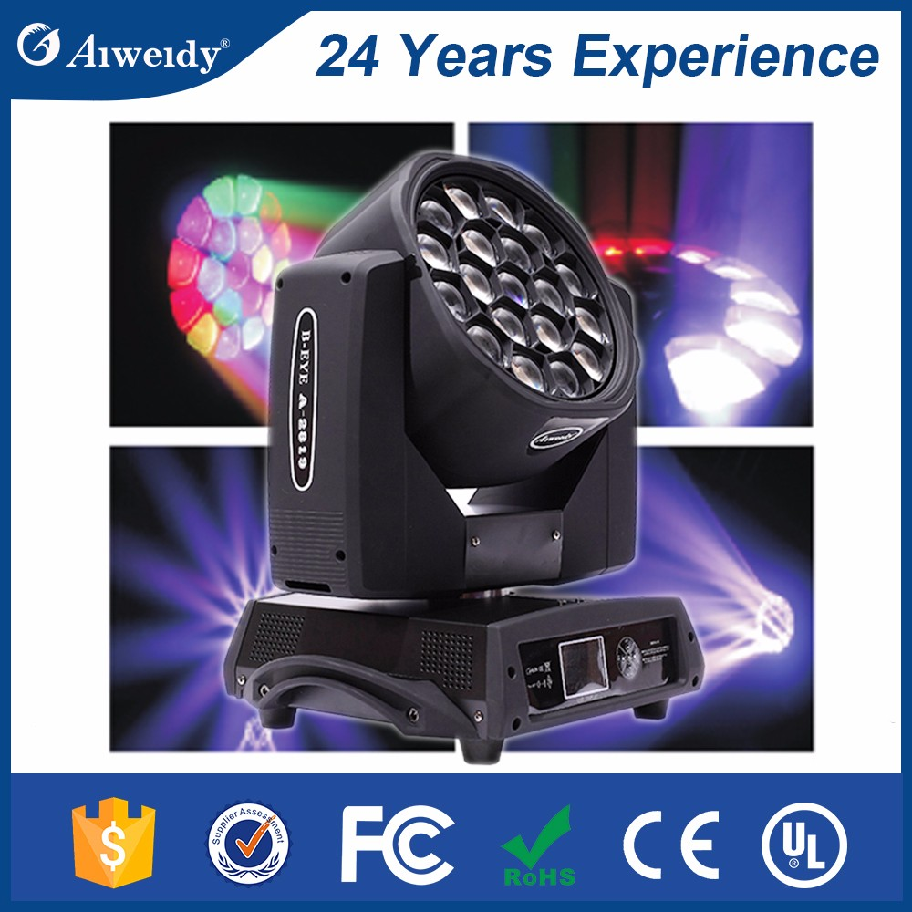 Factory Direct sale 19*15w bee eye k10 4-in-1 beam 280 moving head light