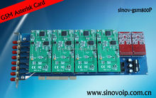 8 ports 64 sim cards gsm gateway asterisk pbx card for openvox g400e
