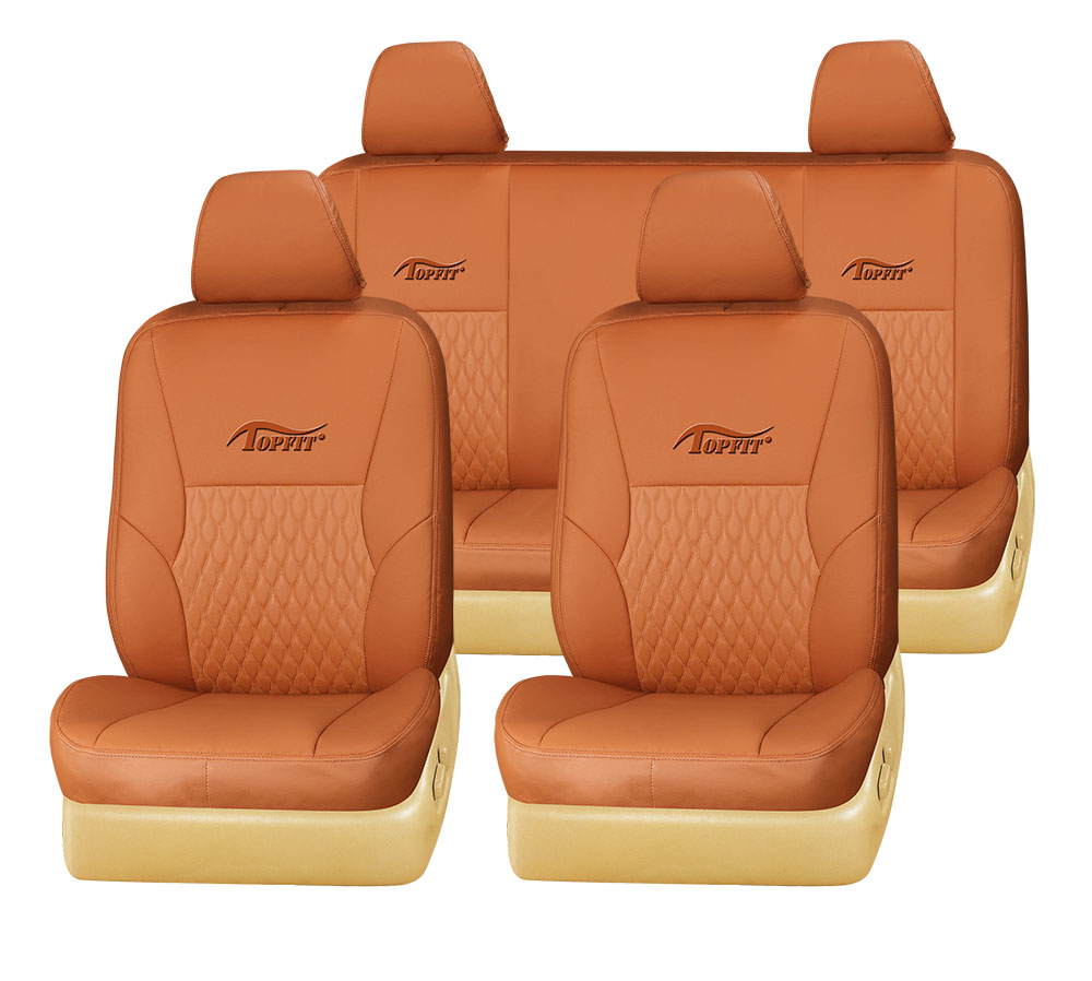 new design of car seat cover in orange apricot PVC car seat cover for second hand cars in Dubai wellfit auto seat cover TP-002
