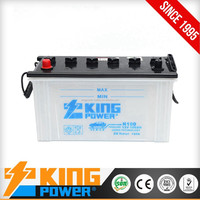 High Capacity 12V Lead acid 100AH auto battery N100 dry charged car battery