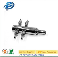 Chrome plated adjusting valve metal check valve for aquarium