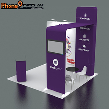 New design custom portable aluminum tradeshow modular exhibition system booth