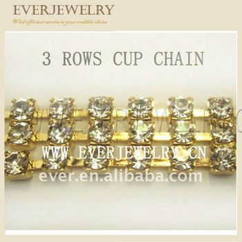 Multi rows cup chain