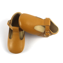 Summer soft leather T-strap shoes fancy baby T-bar shoes baby shoes girl