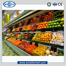 DMV1821O1 Industrial Refrigerated Showcase Used as Display Cooler for Vegetables and Fruits