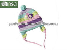 different types of easy hand knit baby hats patterns