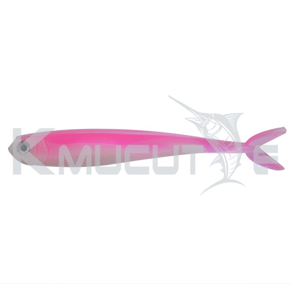 CHSOFT24 Soft fishing lure Double-color mini 89mm 3.6g shad lure furcate tail shad bait