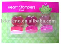 Heart shaped stamp,children toy stamp