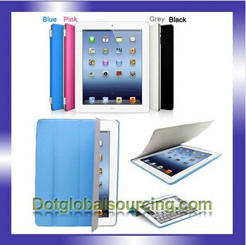 Hot sale multi-color leather case for iPad For iPad 2 For iPad 3