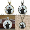 Preacher Art Pattern Gun man necklace keyring bookmark cufflink earring