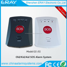 Elderly emergency panic portable GSM alarm with SOS button adopt 850/900/1800/1900 bands
