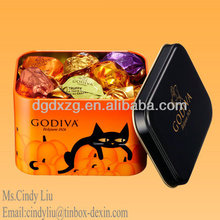 valentine Gift chocolate candy metal tin plate box
