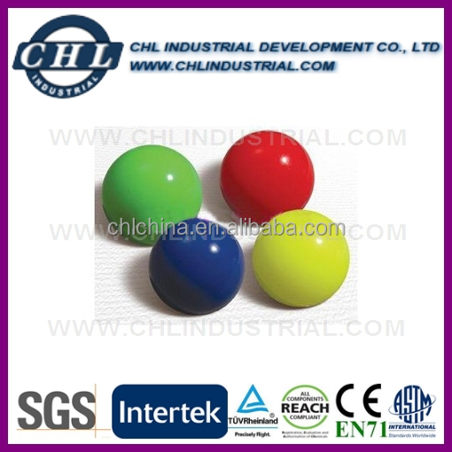 55mm diameter solid color rubber ball